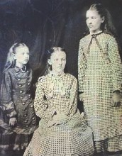 Left to right: Carrie, Mary, Laura Ingalls