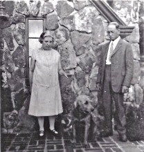 Laura and Almanzo with Nero at the Rock House